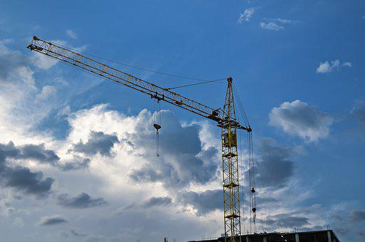 Buildings, Tower, Construction, Crane, Tall, Sky