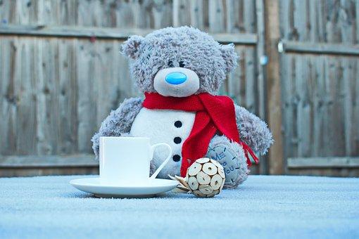 A Cup Of Coffe, Teddy Bear, Cold, Teddy, Bear, Winter