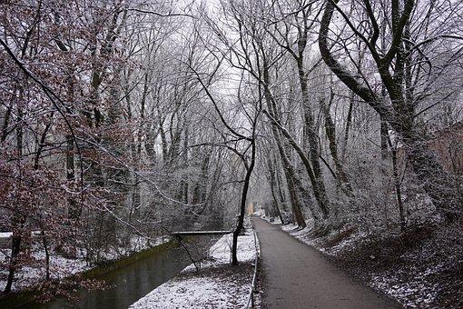 Winter, Park, River, Snow, Cold, Warm, Trees, Ilce-7m3