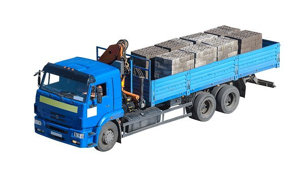 Transportation, Truck, Dump, Vehicle, Tipper, White