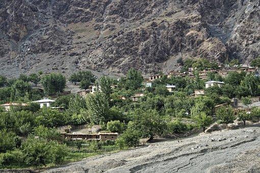 Tajikistan, Bergdorf, Village, Pandsch Valley, Valley