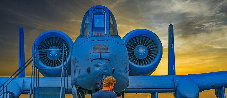 Warthog, A10, Aircraft, Aviation, A-10, Airplane