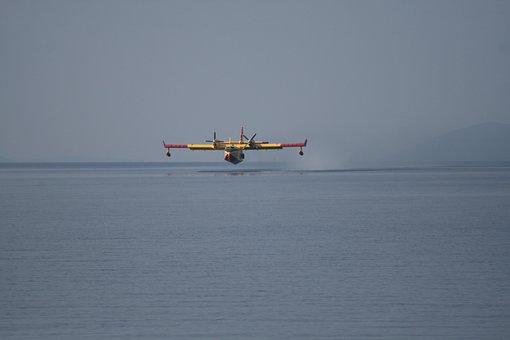 Fire Fighting Aircraft, Fire, Sea, Aircraft, Seaplane
