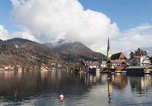 Tegernsee, Bavaria, Germany, Alpine, Wallberg, Lake