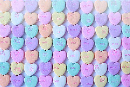 Conversation Hearts, Background, Valentine's Day