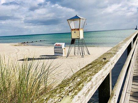 Baltic Sea, Grömitz, Sea, Beach, Coast, Vacations