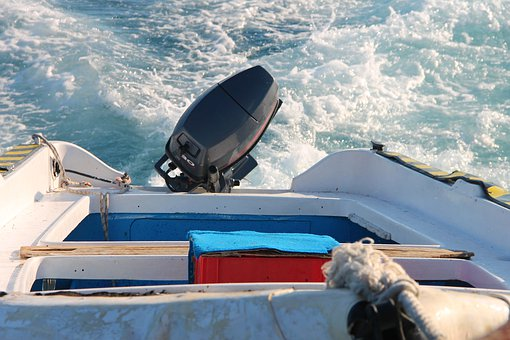 Boat, Powerboat, Outboard Engine, Water, Ship, Summer