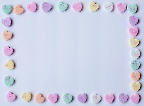 Conversation Hearts, Background, Frame, Border