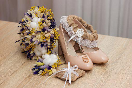 Wedding, The Attributes Of A Wedding, Bouquet, Shoes