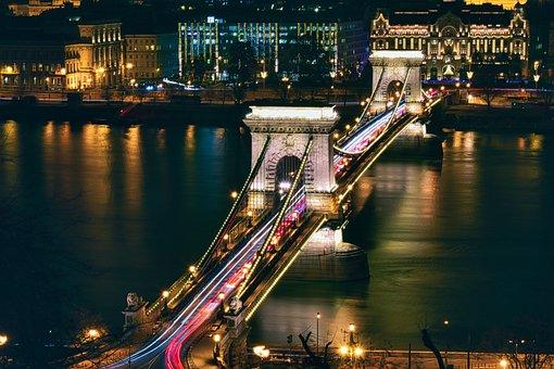 Architecture, Bridge, Budapest, Building, Chain Bridge