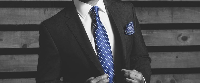 Businessman, Tie, Blue, Suit, Banner, Business, Manager