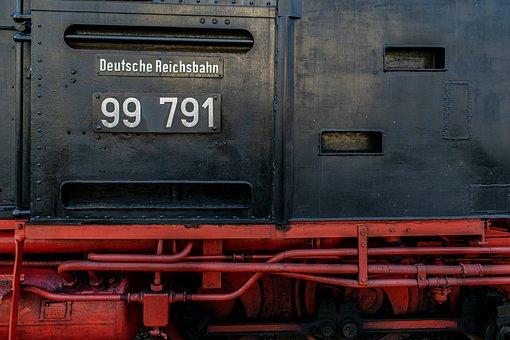 Steam Locomotive, Close Up, Steel