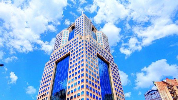 Pittsburgh, Buildings, Sky, Clouds, Skyline