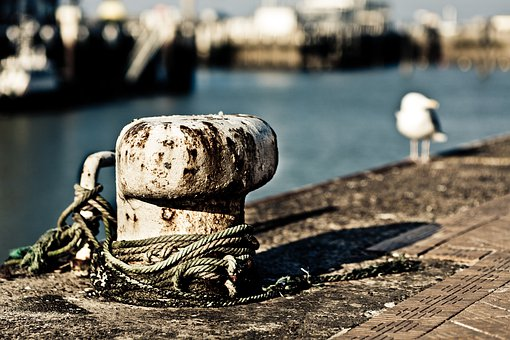 Bollards, Mooring, Port, Wharf, Sea, Marine, Dick