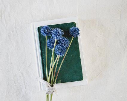 Books, Flowers, Reading, Diary