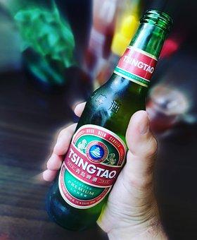 Tsingtao, Beer, Benefit From, Drink, Alcohol, Foam