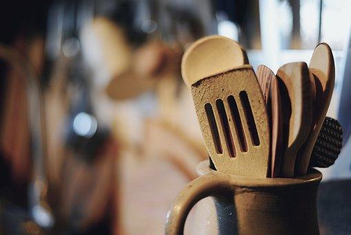 Kitchen Utensils, Wooden Spoon, Kitchen