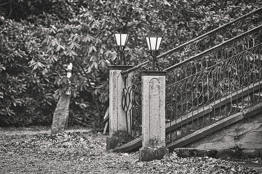 Stairs, Lamps, Architecture, Light