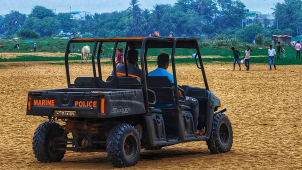 Jeep, Police, Marina, Patrol