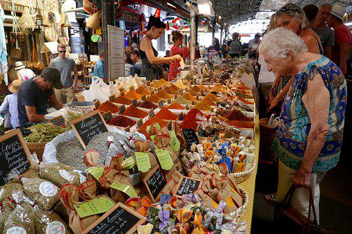 Market, Spices, Food, Bazaar, Curry