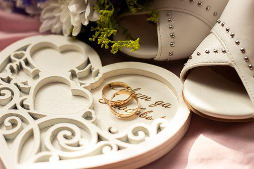 Wedding, Rings, Love, Marriage, Gold