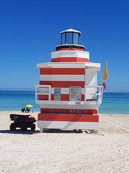 Miami Beach, Miami, Beach, Ocean, Summer Beach, Florida