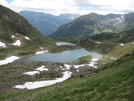 Bergsee, Mountains, Andorra, Pyrenees