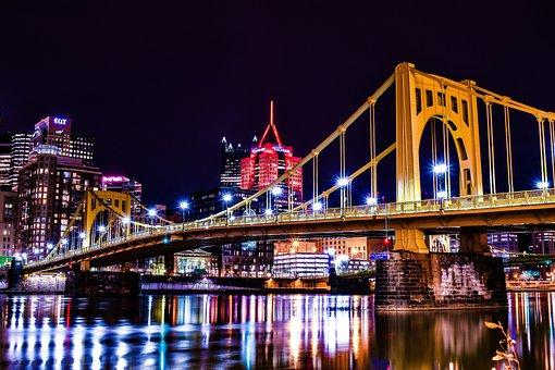 Pittsburgh, Bridges, Pennsylvania, River, City, Skyline