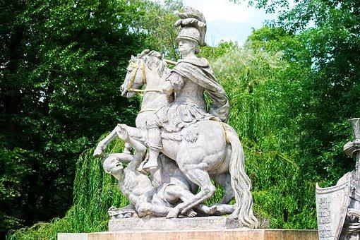 Sculpture, Stone, Statue, Warrior, Ride