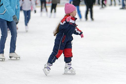 Child, Small, Girlie, Skates, Hat
