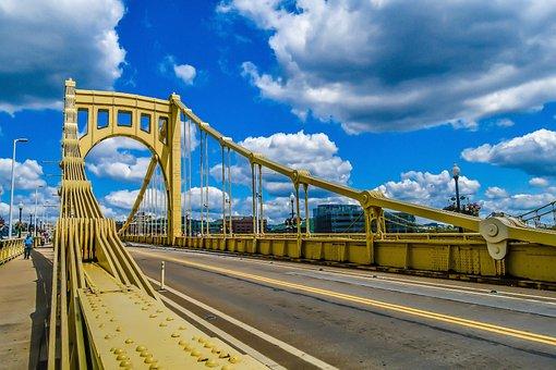 Pittsburgh, Bridges, Pennsylvania, City, Skyline, River