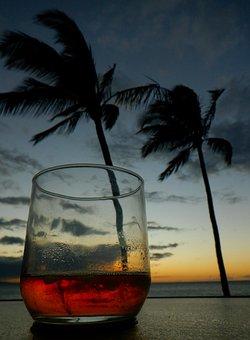 Cocktail, Whiskey, Holidays, Sunset
