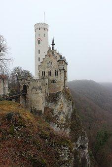 Castle, Fog, Lichtenstein, Swabian Alb, Alb, Viewpoint