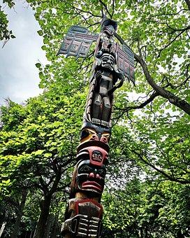 Totem, Stake, North America, Indians, Bonn, Rheinaue