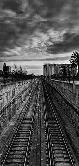 Railroad, Train, Subway, Metro, Gray Train