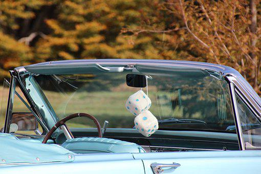 Fuzzy Dice, Car, Vehicle, Convertible