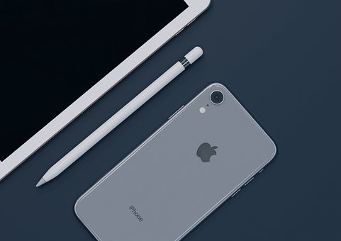 Apple, White, Computer, Iphone, Desk, Technology