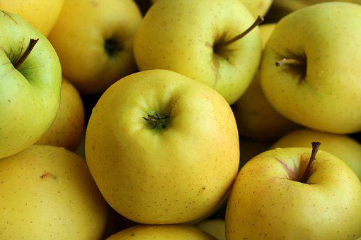 Apples, Fruit, Vitamins, Mature, Green, Yellow