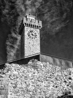 Tower, Clock, Cuenca, Spain, Architecture, Europe