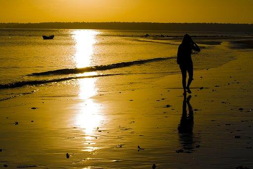 Sun, Sunrise, Beach, Landscape, Sol, Mar