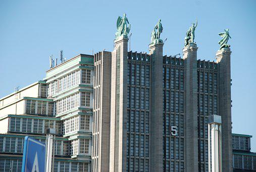 Brussels, Architecture, Art Deco, Heroes