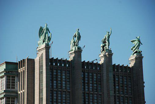 Brussels, Architecture, Art Deco, Heroes, Monument