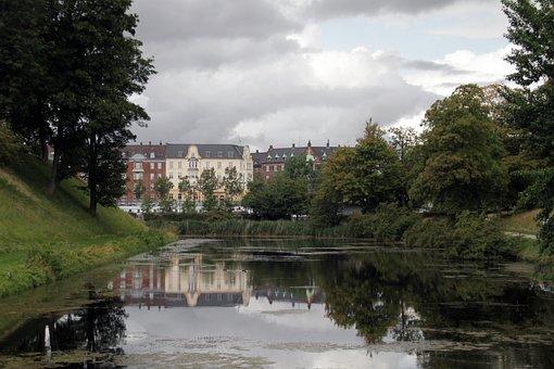 Building, Architecture, Reflection, Copenhagen, Danish