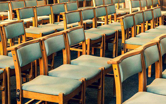 Chairs, Pews, Church, Row, Seat, Green