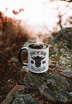 Coffee, Cup, Viking, Odin, Smoke, Coffee Cup, Cafe