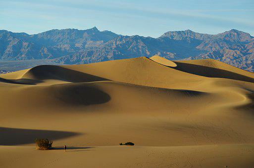 Mesquite Flats, Death Valley Np, National Parks, Usa