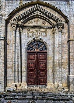 Door, Old, Gate, Architecture, Church