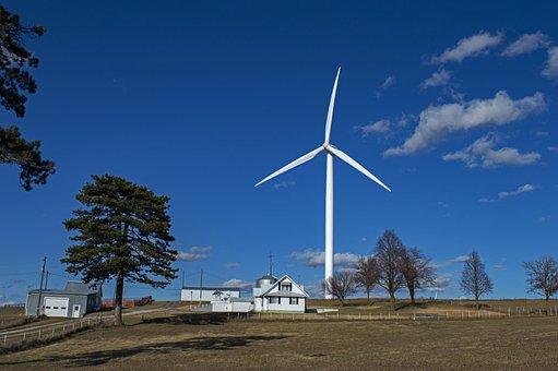 Windmill, Wind Power, Wind Turbine, Farm, Coexistence