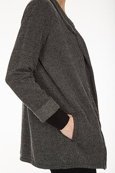 Jacket, Mont, Cardigan, Grey, Fashion, Woman, Human