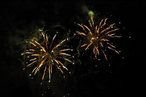 Fireworks, The Eruption, Fires, New Year's Eve, Light